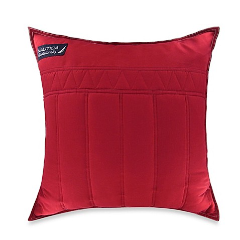 Nautica Mainsail Square Throw Pillow in Red - Bed Bath & Beyond