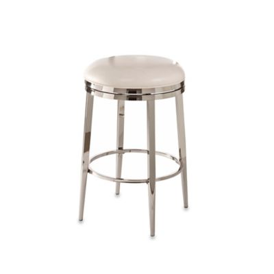 Ampersand® Halton Swivel 30-Inch Backless Counter Stool in Ivory
