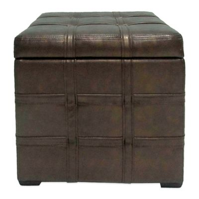 Bombay Dargan Ottoman in Pewter