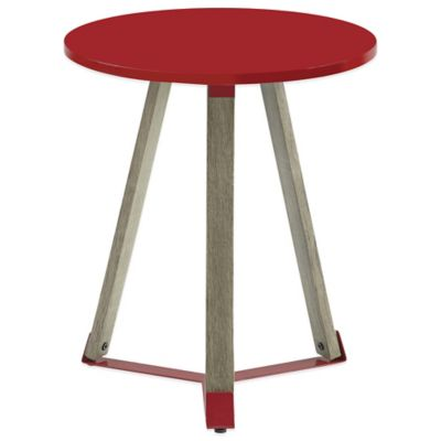 Mid Century Round Table in Red