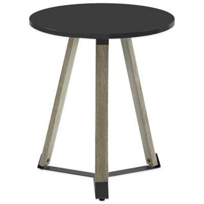 Mid Century Round Table in Black