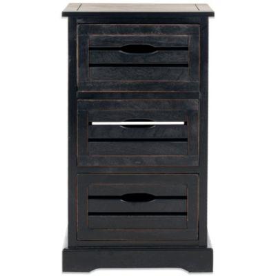 Black Drawer Cabinet