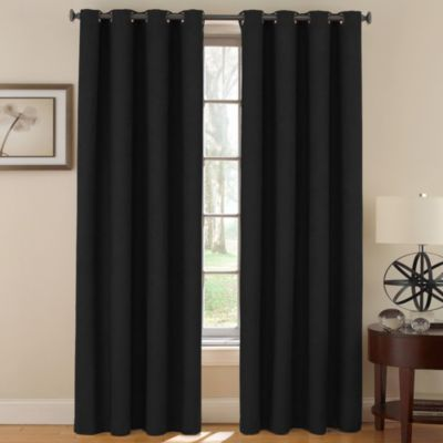 SoundAsleep™ Vivianna Grommet 63-Inch Darkening Panel in Black
