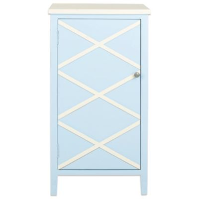 Blue/White Storage Cabinets