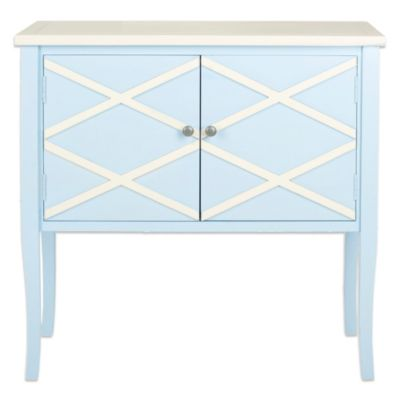 Safavieh Winona Sideboard in Lime Green/White