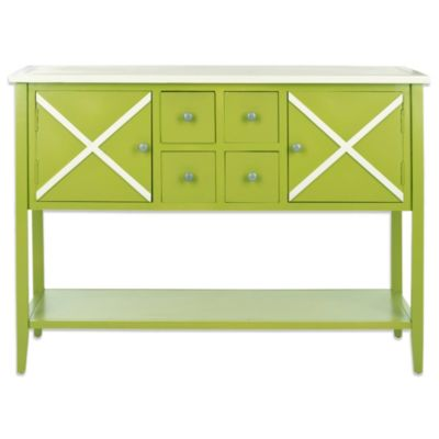Safavieh Adrienne Sideboard in Green
