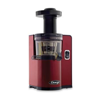 Omega® VSJ843Q Low Speed Juicer in Red