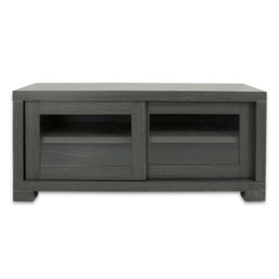 Safavieh Davis Sliding Door TV Cabinet in Grey