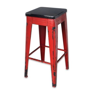 Moe's Home Collection Sturdy Barstool in White