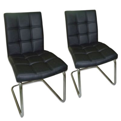 Moe's Home Collection Bristol Dining Chairs in Black (Set of 2)