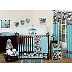 Sweet Jojo Designs Funky Zebra 11-Piece Crib Bedding Set in Turquoise
