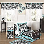 Sweet Jojo Designs Funky Zebra 5-Piece Toddler Bedding Set in Turquoise