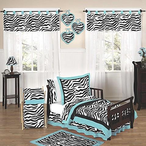 Sweet Jojo Designs Funky Zebra Toddler Bedding Collection ...