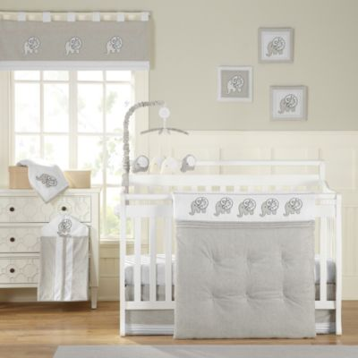 Laugh, Giggle & Smile Elephant Chic 11-Piece Crib Bedding Set