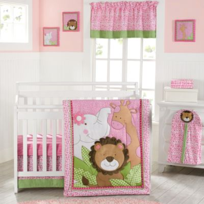 New Country Home Laugh, Giggle & Smile Sassy Jungle Friend 9-Piece Crib Comforter Set