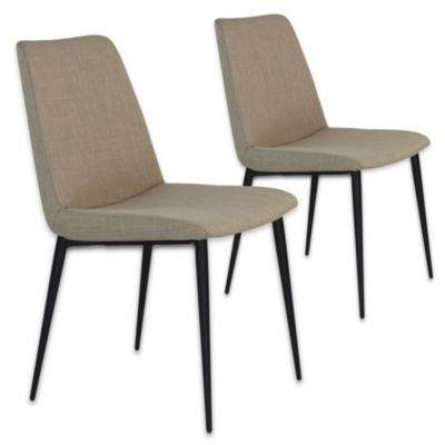 Moe's Home Collection Charlie Side Chairs in Beige (Set of 2)