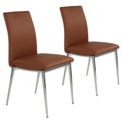 Moe's Home Collection Morton Side Chairs in Camel (Set of 2)