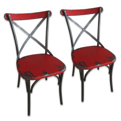 Moe's Home Collection Bali Dining Chairs in Red (Set of 2)