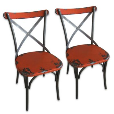 Moe's Home Collection Bali Dining Chairs in Orange (Set of 2)