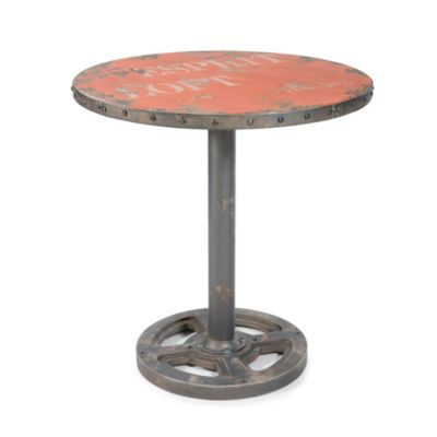 Moe's Home Collection Wheel Round Table in Orange