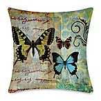 19-Inch Outdoor Toss Pillow in Homespun Butterfly 1