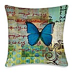 19-Inch Outdoor Toss Pillow in Homespun Butterfly 2
