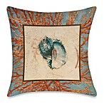 19-Inch Outdoor Toss Pillow in Coral Medley Shell 1