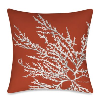 19-Inch Outdoor Throw Pillow in Coastal Coral 1