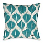 Colored IKats 3 Outdoor Toss Pillow in Blue