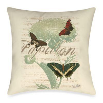 Papillon Melange IV Outdoor Throw Pillow