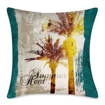 Summer Heat Outdoor Throw Pillow
