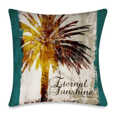 "Square ""Eternal Sunshine"" Outdoor Throw Pillow"