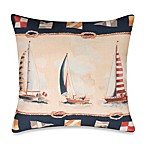 Sunday Sailboats 19-Inch Outdoor Toss Pillow