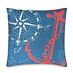 Anchors Away Outdoor Toss Pillow in Nautical