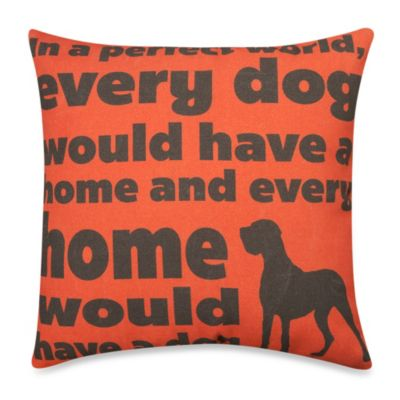 """In a Perfect World"" Outdoor Throw Pillow in Red"