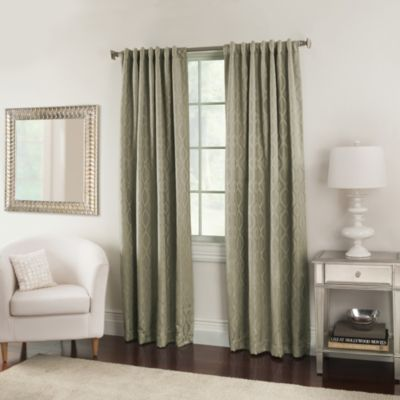 Nova 63-Inch Window Curtain Panels in Sand