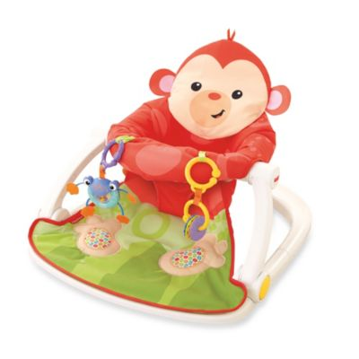 Fisher-Price® Deluxe Sit-Me-Up Monkey Floor Seat in Red