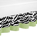 Sweet Jojo Designs Funky Zebra Queen Bed Skirt in Lime