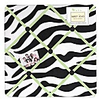 Sweet Jojo Designs Funky Zebra Memory Board in Lime