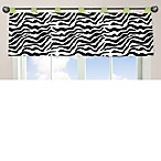 Sweet Jojo Designs Funky Zebra Window Valance in Lime