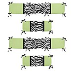 Sweet Jojo Designs Funky Zebra Crib Bumper in Lime