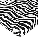 Sweet Jojo Designs Funky Zebra Fitted Sheet in Black/White