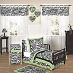 Sweet Jojo Designs Funky Zebra Toddler Bedding Collection in Lime