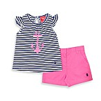 Izod 2-Piece Short Set in Navy Anchor