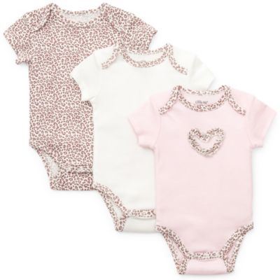Little Me Baby Leopard Bodysuit (Set of 3)
