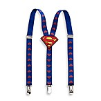 Adjustable Superman Logo Suspenders