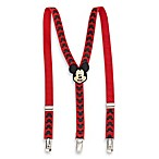 Adjustable Mickey Mouse Logo Suspenders