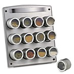 Magnetic 12-Jar Spice Rack with Easel