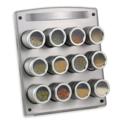 Kamenste in ® Magnetic 12-Jar Spice Rack with Easel