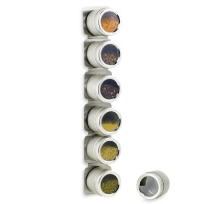 Magnetic 6-Jar Spice Rack